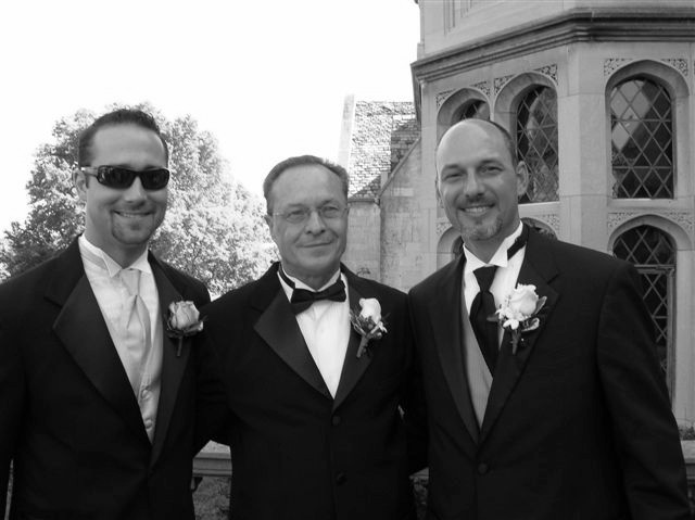 Me, Dad, Chad at Chad's Wedding